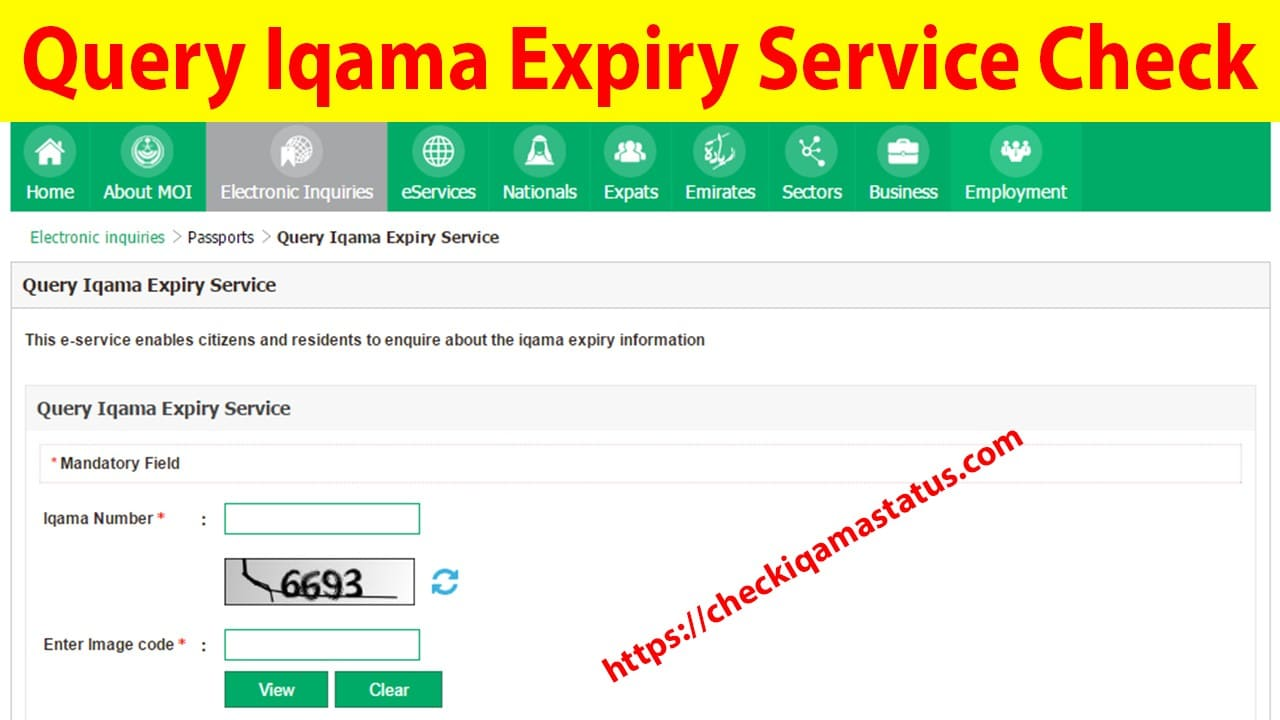 Query Iqama Expiry Service Check Saudi Arabia
