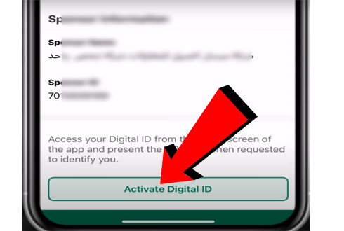 Activate Digital Iqama ID